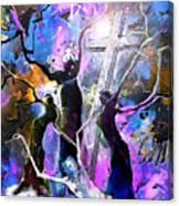 Jesus From Cross Canvas Print