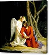 Jesus In Gethsemane Canvas Print