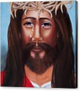 Jesus In Red Canvas Print