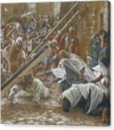 Jesus Meets His Mother Canvas Print
