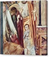 Jesus & Moneychanger Canvas Print
