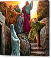 Jesus Raises Lazarus Canvas Print