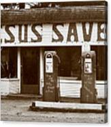 Jesus Saves 1973 Canvas Print