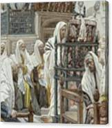 Jesus Unrolls The Book In The Synagogue Canvas Print