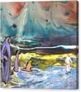 Jesus Walking On The Water Canvas Print