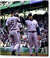 Jeter And Torre Canvas Print
