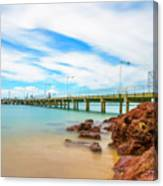 Jetty By The Sea Canvas Print