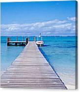Jetty On The Beach, Mauritius Canvas Print