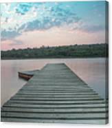 Jetty Sunset Canvas Print