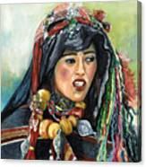 Jeune Femme Berbere De Atlas Marocain Canvas Print