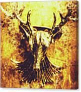 Jewel Deer Head Art Canvas Print