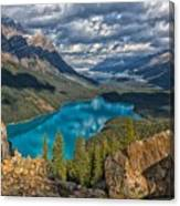 Jewel Of The Rockies Canvas Print