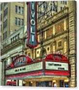 Jewel Of The South Tivoli Chattanooga Historic Theater Art Canvas Print
