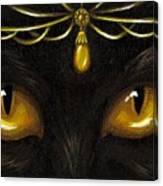 Jeweled Kitty Amber Canvas Print