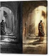 Jewish - Evening Prayers 1934 - Side By Side Canvas Print
