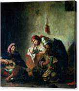Jewish Musicians In Mogador Canvas Print