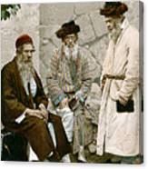 Jews In Jerusalem, C1900 Canvas Print