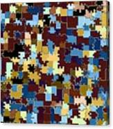 Jigsaw Abstract Canvas Print