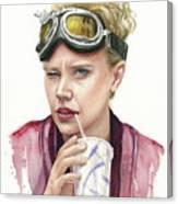 Jillian Holtzmann Ghostbusters Portrait Canvas Print