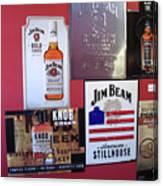 Jim Beam Signs On Display Canvas Print