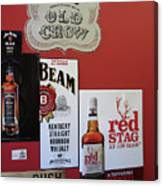 Jim Beam's Old Crow And Red Stag Signs Canvas Print