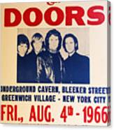 Jim Morrison And The Doors Poster Collection 3 Canvas Print