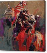 Jima Memorial Washington Dc Canvas Print