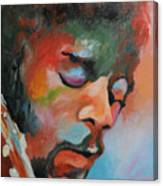 Jimi Hendrix At Monterrey Canvas Print