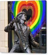 Jimi Hendrix Love On Capitol Hill Canvas Print