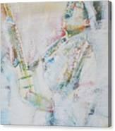 Jimi Hendrix Playing The Guitar.9 - Watercolor Portrait Canvas Print