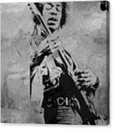 Jimi Hendrix Pop Star  Canvas Print