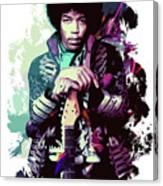 Jimi Hendrix, The Legend Canvas Print