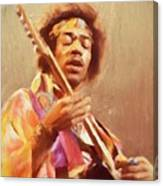 Jimi Jamming Canvas Print