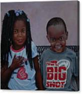 Jimia And Mr Bigshot Canvas Print