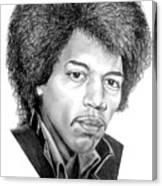 Jimmi Hendrix By Murphy Art. Elliott Canvas Print