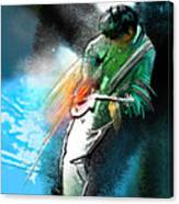 Jimmy Page Lost In Music Canvas Print