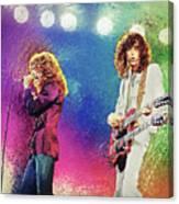 Jimmy Page - Robert Plant Canvas Print