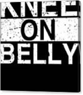 Jiu Jitsu Bjj Knee On Belly Light Canvas Print