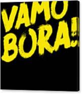 Jiu Jitsu Design Vamo Bora Yellow Light Martial Arts Canvas Print