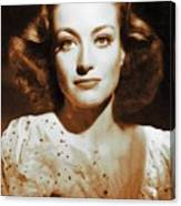 Joan Crawford, Hollywood Legends Canvas Print
