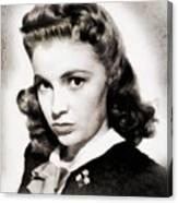 Joan Leslie, Vintage Actress Canvas Print