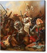 Joan Of Arc In The Battle Canvas Print