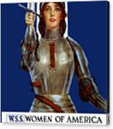 Joan Of Arc Saved France - Save Your Country Canvas Print