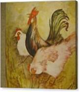 Joanna'sthree Chickens Canvas Print