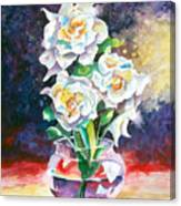 Joan's Gardenias Canvas Print