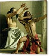 Joash Shooting The Arrow Of Deliverance Canvas Print