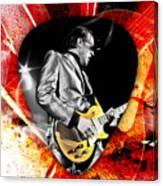 Joe Bonamassa Blue Guitar Art Canvas Print