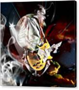 Joe Bonamassa Blue Guitarist Canvas Print