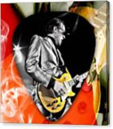 Joe Bonamassa Blues Guitar Art Canvas Print