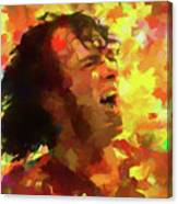 Joe Cocker Colorful Palette Knife Canvas Print